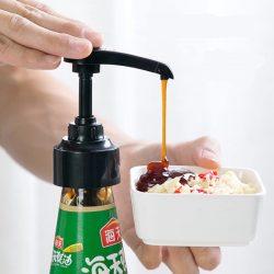 蚝油瓶压嘴泵头耗油瓶挤压家用耗油按压嘴挤蚝油神器定量瓶按压式