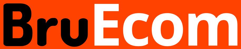 BruEcom Logo Black White
