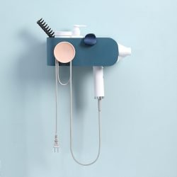 Hair Dryer Storage Rack | Wall-Mounted | No Drilling