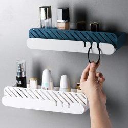 Long-Shape Wall-Mounted Bathroom Storage Rack | Drills and Nails Free | Organizer
