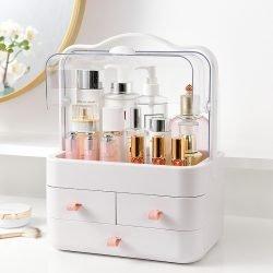 Make up Cosmetics Organizer Box | Dust Proof | Transparent