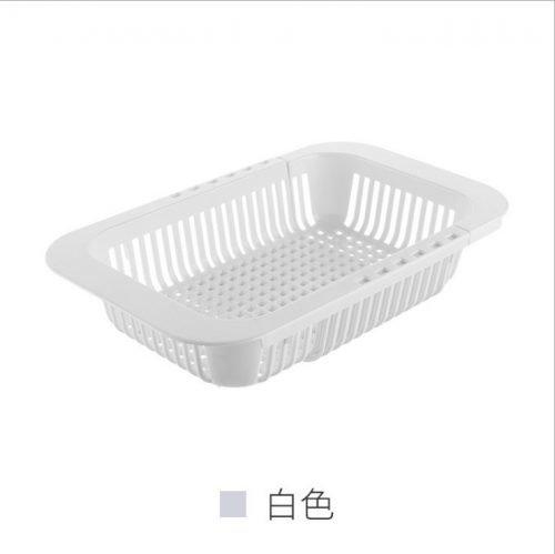 可伸缩厨房水槽沥水架塑料方形碗碟架蔬菜收纳架碗筷架子