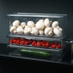 新品冰箱收纳盒保鲜盒塑料透明密封盒果蔬冷冻鸡蛋饺子盒方形
